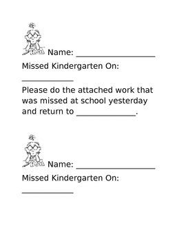Homework Missed Note
