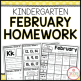 Homework Packet: Kindergarten   February