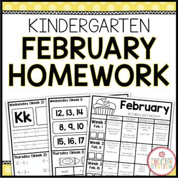 Homework Packet: Kindergarten | February