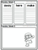 Homework Packet: Kindergarten | January