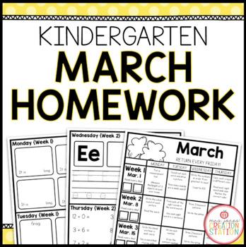 Homework Packet: Kindergarten   March