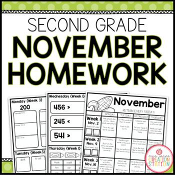 Homework Packet: Second Grade | November
