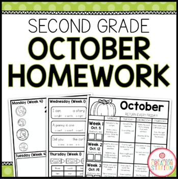 Homework Packet: Second Grade | October