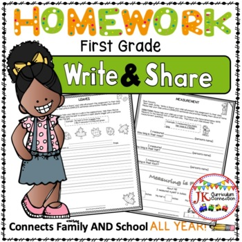 Homework Packet for an ENTIRE year of First Grade: Write & Share