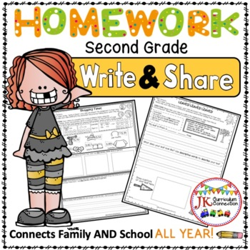 Homework Packet  for an ENTIRE year of Second Grade: Write