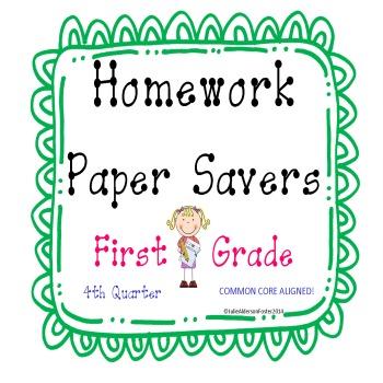 Homework Papersavers 4th Quarter