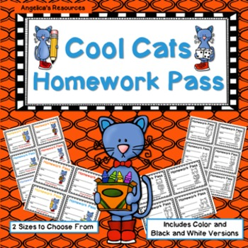 Cool Cats Homework Pass - Incentive Reward Coupon