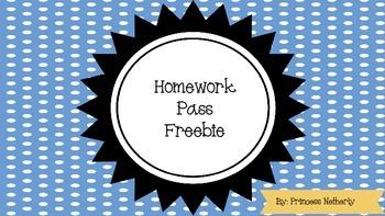 Homework Pass Freebie