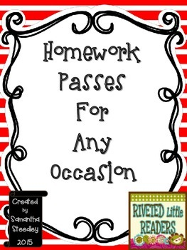 Homework Passes For Any Occasion - Holidays & General