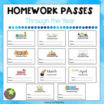 Homework Passes Through the Year