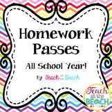 Homework Passes Throughout the Year