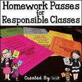 Homework Passes for Responsible Classes