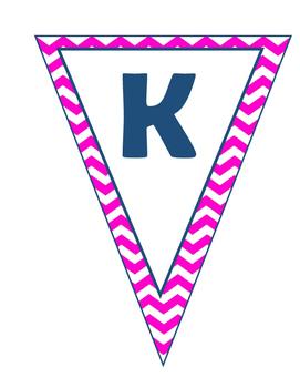 Homework Pennant Banner (Pink/Navy)