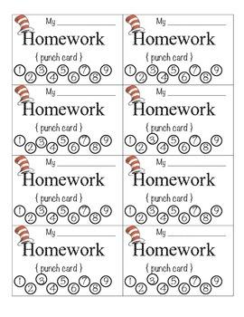 Homework Punch Card