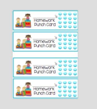 Homework Punch Card Bookmarks (Bye Bye Reading Log!)