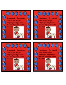 Homework Punchcard