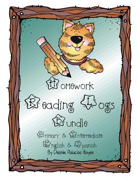 Homework Reading Logs BUNDLE (Primary & Intermediate) in E