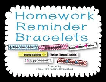 Homework Reminder Bracelets