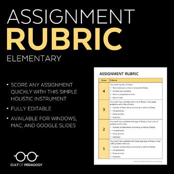 Homework Rubric: Elementary