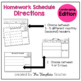 Homework Schedule Editable - with Spelling and Sight Words