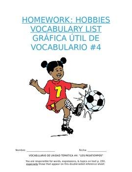 Homework Sp1 - Unit 4 Vocabulary: Three Column List for Ho