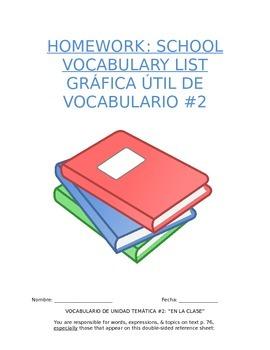 Homework Sp1 - Unit 2 Vocabulary: Three Column List for Sc