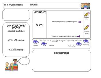 Homework Template: CUTIE KIDS theme