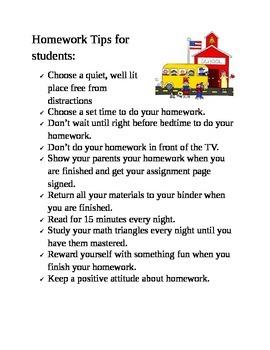 Homework Tips to Start the School Year
