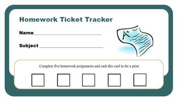 Homework Tracker Ticket