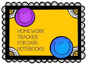 Homework Tracker for Data Folders 2016-17 school year