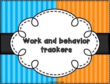 Homework and behavior trackers