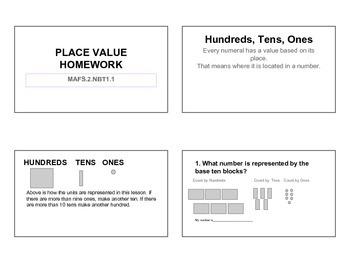 Homework for Copies MAFS 2NBT1.1