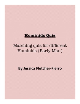 Hominids/Early Man Quiz