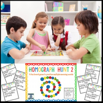 Homograph Game--Multiple Meaning Words Board Game, Version 2