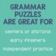 Homograph Matching Puzzles (Multiple Meaning Words)