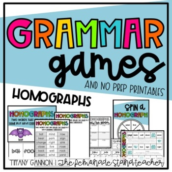 Homographs Mini-Pack {No Prep Pack!}