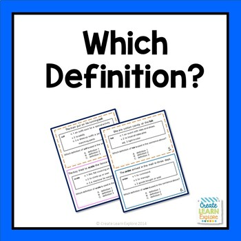 Homographs: Which Definition Is It?