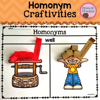 Homonym Crafts {Receptive Expressive Language Kit}