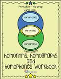 Homonyms, Homophones and Homographs Workbook