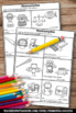 Homonyms Cut and Paste Phonics Worksheets + Writing Activi