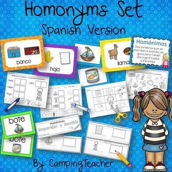 Homonyms Set Spanish Version Book to Create, Posters, Matc