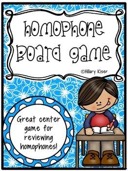 Homophone Board Game