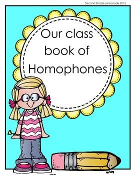 Homophone Class Book