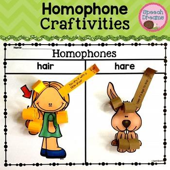 Homophone Crafts {Receptive Expressive Language Kit}