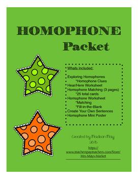 Homophone Packet