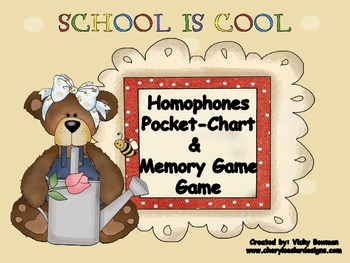 Homophone Pocket Chart & Memory Games