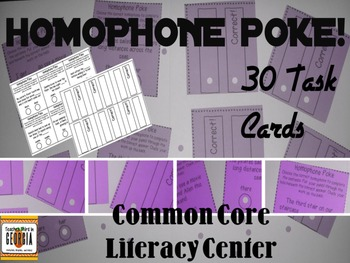 Homophone Poke and Learn! 2-3-4 Common Core Literacy Center