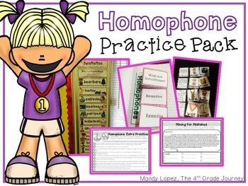 Homophone Practice Pack