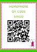 Homophone QR Code Bingo