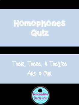 Homophone Quiz 1